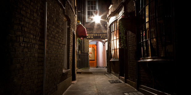 Don Rumbelow takes tourists through the narrow alleys and the streets that were the hunting ground of a killer.