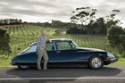 Owen Foster with his Citroen DS Pallas on Waiheke Island. Picture / Ted Baghurst