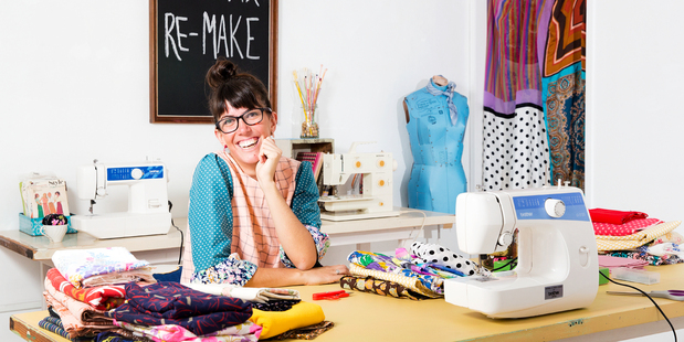 Sarah Lancaster from Sew Love Tea Do. Photo / Babiche Martens.