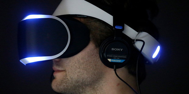 A PlayStation 4 virtual reality headset. Are virtual reality machines making a comeback or are they riding the hype cycle? Photo / AP