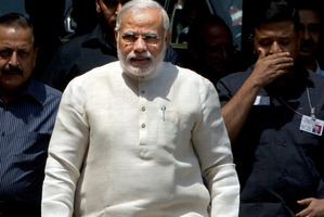 Narendra Modi (pictured) has yet to comment on the controversial comment by his minister. Photo / AP