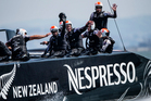 Emirates Team New Zealand competing in the 34th America's Cup. Photo / File.