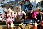 Participants in the Queenstown Winter Festival drag race.