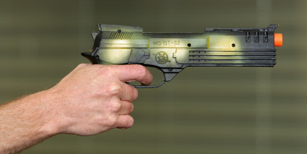 A toy gun has sparked a police callout in Wellington. Photo / File