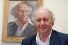 UNCANNY: Renowned Scottish author Alexander McCall Smith writer of the bestselling No1 Ladies Detective Agency  series of books got up close to a portrait of his grandfather at Rawene Hospital.