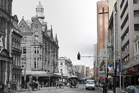 Morphed picture of Queen St, then and now. Digital Photo / Neil Bond