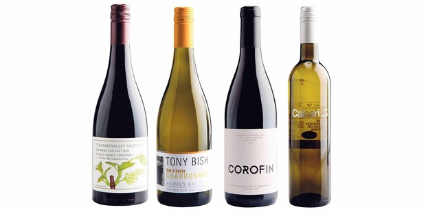 Pyramid Valley Growers Collection Howell Family Vineyard; Tony Bish Fat n Sassy Hawkes Bay Chardonnay; Corofin Settlement Vineyard East Slope Marlborough Pinot Noir; Pares Balta Calcari Penedes.