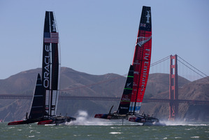 The rules for the 35th America's Cup allow Oracle to build two AC62s, 10 feet shorter than those raced in San Francisco. Picture / Brett Phibbs