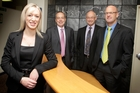Sarah Little lines up with her new partners at Horsley Christie (from left) Colin Milham, Peter Brown and John Unsworth. Photo/Bevan Conley