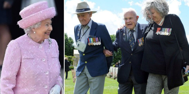 NZ veterans held a private ceremony yesterday at Bayeux ahead of a meeting today with the Queen. Photo / AP