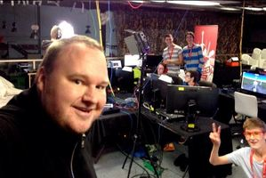 Kim Dotcom tweeted this selfie at the Call of Duty marathon. Photo / Twitter