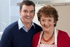 Dame Alison Holst and her son Simon.