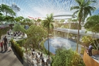 A domed leisure and shopping complex is part of a major project at Singapore's airport to handle growing traffic.