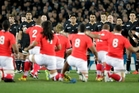 The All Blacks have not taken on an Island nation since playing Tonga in the opening match of the 2011 World Cup. Photo / Dean Purcell