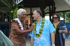 John Key receives a warm welcome from former Aucklander