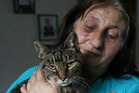 Helen Kay made sure she rescued her cat Wibby and followed him to the shore. Photo / ODT