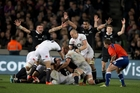 England's frustration on Saturday will need to be a weapon in Dunedin, says coach Stuart Lancaster. Photo / Brett Phibbs