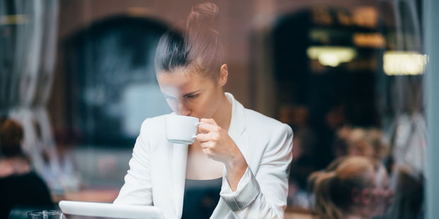 There's nothing 'naughty' about enjoying the boost of a morning coffee. Photo / 123RF