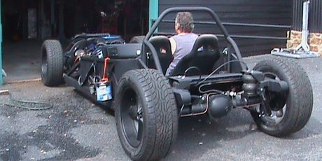 The Batmobile during the build process. Photos / Supplied