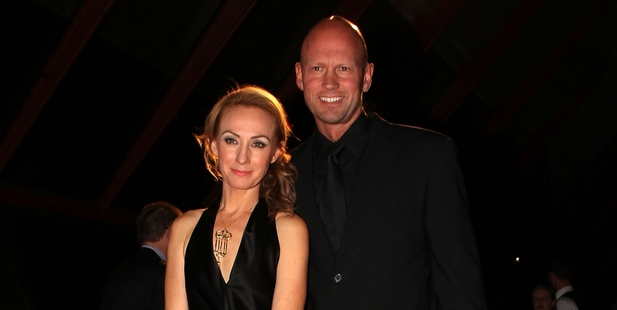 Lisa McCune and Teddy Tahu Rhodes in Sydney in 2012. Photo / Snapper Media