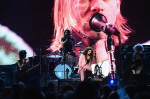 Joan Jett, Dave Grohl of Nirvana, Lorde and St Vincent perform at the 29th Annual Rock And Roll Hall Of Fame Induction Ceremony. Photo/AP