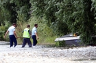 Police at the scene of the jet-boating accident on the Ngaruroro River that claimed the life of Dale Baker. Photo / File