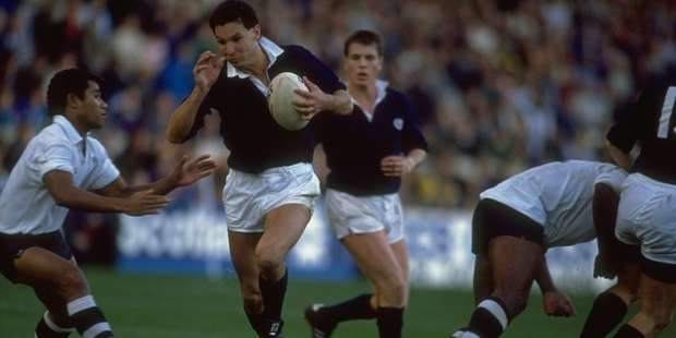 Sean Lineen, playing for Scotland, is now head of player acquisition for the SRU. Photo / Getty Images