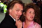 Rik Mayall with his wife Barbara in 2000. Photo/AP