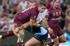Corey Parker, left, has been ruled out of next week's State of Origin clash. Photo / Getty Images