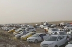 United Nations images show the situation at a checkpoint near Irbil in Iraq, as thousands flee violence in Mosul and elsewhere in the country.