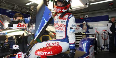 Kazuki Nakajima of Japan exits the Toyota Racing TS040. Photo / Supplied
