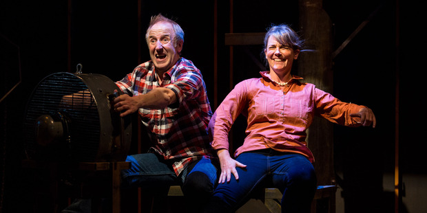 The play offers a fine exhibition of the actor's craft as Adam Gardiner and Toni Potter throw themselves into multiple roles. Photo / Malmo Photography