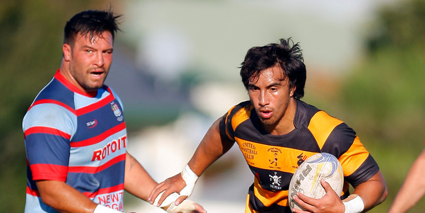 Rotoiti hooker Joe Royal, left, and Te Puke Sports winger Junior Tofa-Va'a played in Wednesday night's Steamers trial in Te Puke. Photo / George Novak