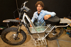 Daryl Neal with a prototype electric farm bike which reaches 40km/h and costs just 7c an hour to run.