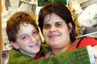 Christie Teki-Reu with her son Nathan, 10.  Photo/Stuart Munro