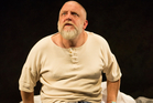 Simon Russell Beale as Lear, not in his perfect mind.