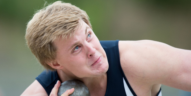 The key advice shot putter Jack Gill has gleaned as he ventures into the elite ranks is 'be patient'. Photo / APN