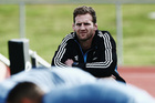Kieran Read of the All Blacks looks on from the sidelines during a New Zealand All Blacks training session at Trusts Stadium. Photo / Getty.
