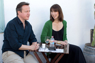 British Prime Minister David Cameron and his wife Samantha. Photo / AP