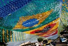 The streets of Brazil are well decorated with national flags of countries participating in the 2014 FIFA World Cup. Photo / AP