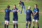 England rugby players warm up at Onewa Domain, Auckland. Photo / Greg Bowker
