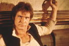 Harrison Ford as Star Wars character Han Solo.