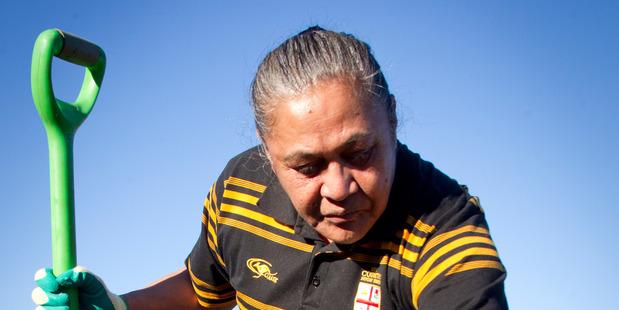 Marama Tuhirere enrolled in a gardening course at Te Awanga Marae.Photograph Warren Buckland