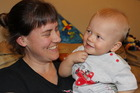 Katie McMenamin is thrilled with the progress her son Nikau, who was born profoundly deaf, is making. Photo / APN
