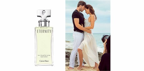 Christy Turlington and Calvin Klein shooting for the Eternity frangrance. Photo / Supplied.