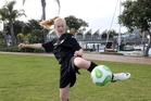FOOTIE SKILLS: Anya Groos thinks the tournament is a great idea. PHOTO/JOHN STONE