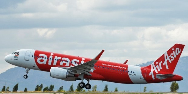 An AirAsia India Airbus A320 takes off as it embarks on the carrier's inaugural domestic flight. Photo / AFP