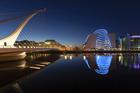Samuel Beckett Bridge, Dublin. Surveys show Dublin lags behind London, Berlin and Tel Aviv as a base to build tech companies. Photo / Thinkstock