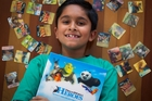 Ethan Dharmai, 9, is a devoted DreamWorks Heroes collector. Photo / Sarah Ivey