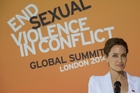 Angelina Jolie has joined with William Hague to organise the London summit.  Picture / AP
